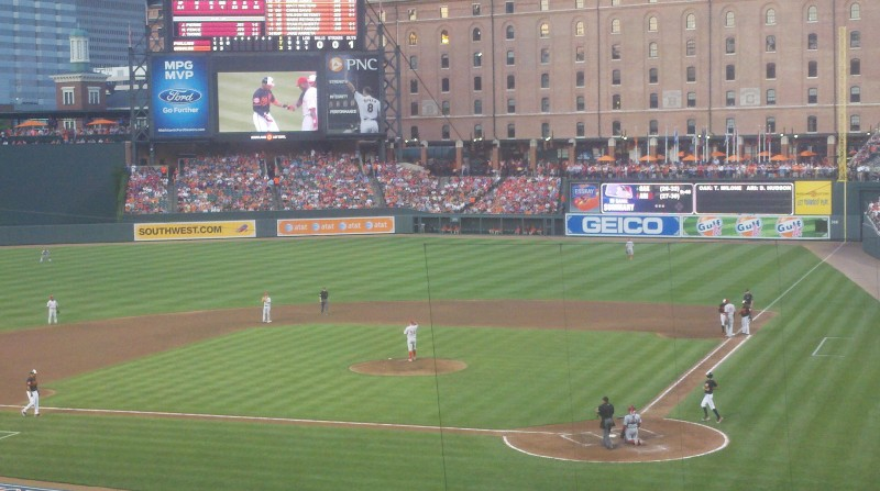 Behind Home Plate at Camden Yards