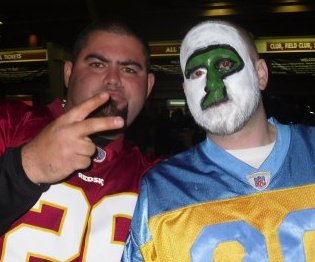 Eagles Redskins tailgate at Fed Ex Field