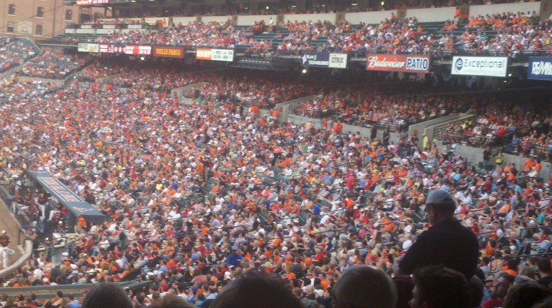 The Fans at a packed Camden Yards