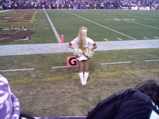 Redskins Cheerleader 2009