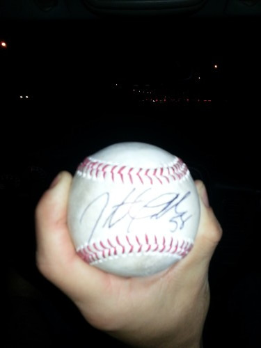Gift from Jonathon Papelbon after Phillies game at Citizens Bank Park