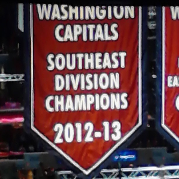 The last time they'll raise this kind of banner due to NHL realignment